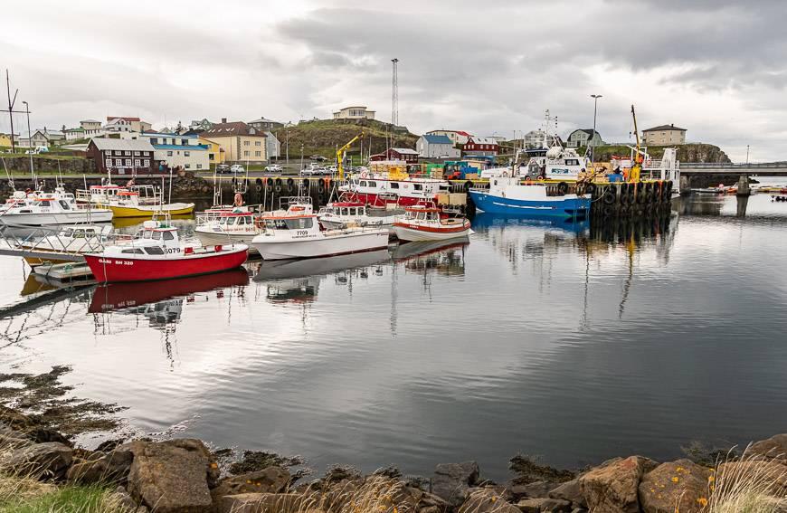 The harbour in Stykkisholmur
