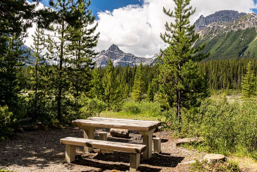 Very private walk-in campsites at Silverhorn Creek