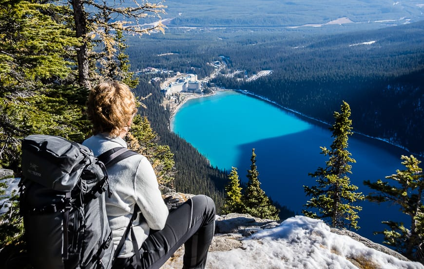 Stellar views of Lake Louise from the Big Beehive - one of the top hikes in Canada