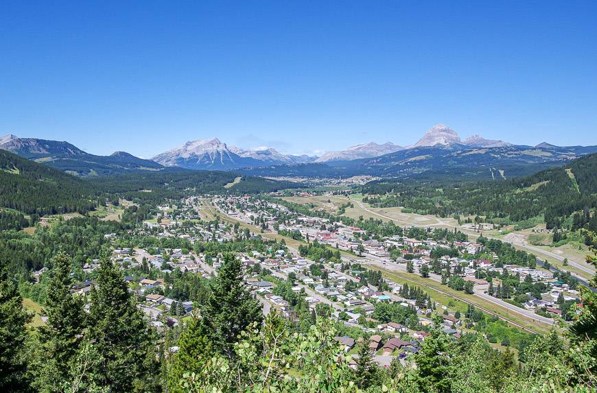 oking west down the Crowsnest Valley starting from Blairmore