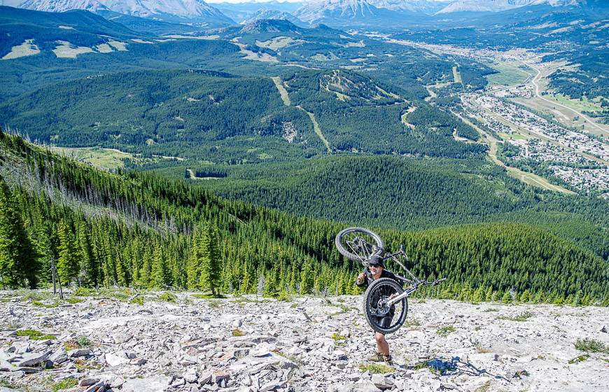This guy and his buddy (not in the photo) are planning to bike down Turtle Mountain