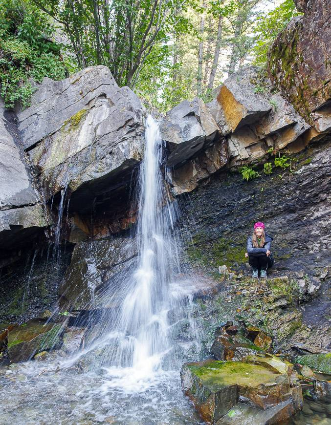 Rainbow Falls - one of the Crowsnest Pass hikes worth doing