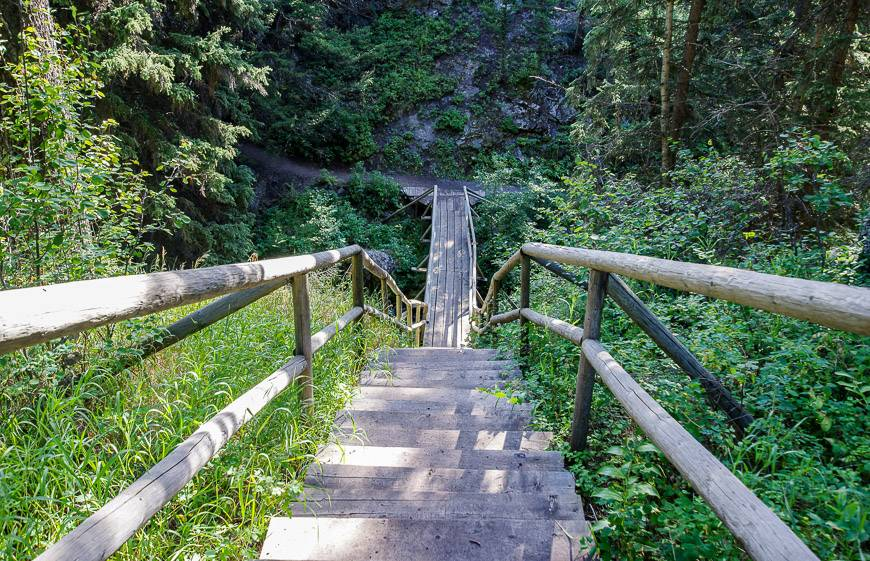 The first set of stairs you reach will take you up the old mine site