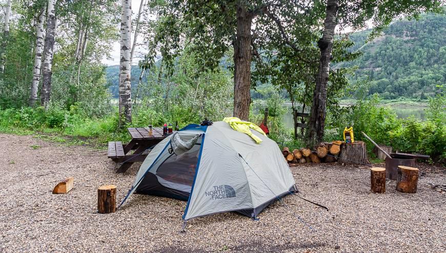 Our campsite at the deserted Pratt's Landing