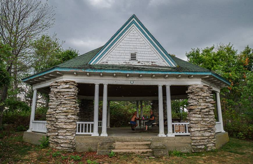 This old stone shelter offers respite from the wind on Gordon Island