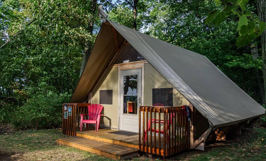 Our oTENTik cabin on Gordon Island