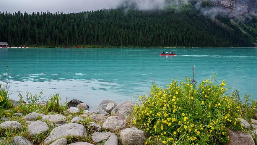 The hike starts at Lake Louise