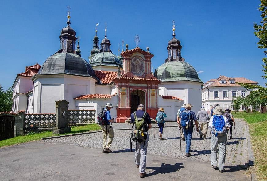 The beautiful Klokoty Monastery near Tabor