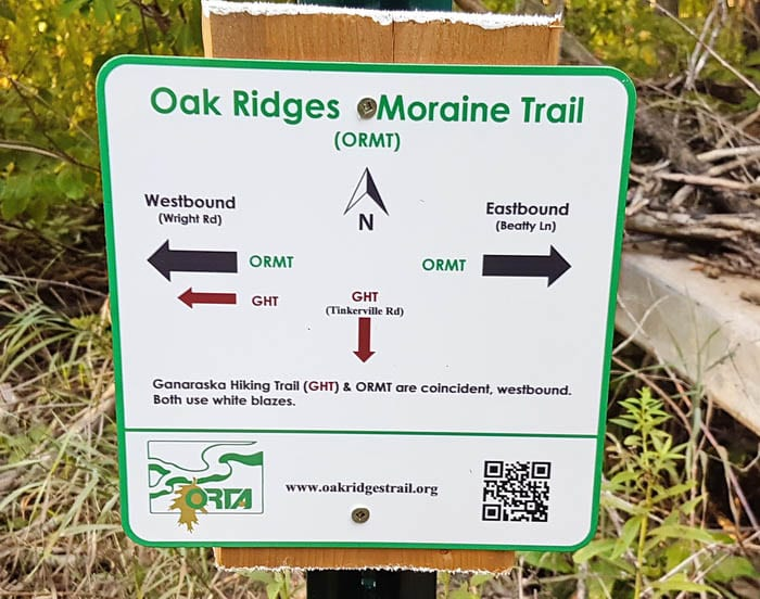 There are places where more signage would be helpful on this trail