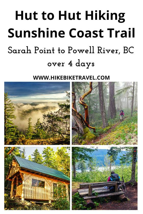 Free hut to hut hiking on the Sunshine Coast Trail - Sarah Point to Powell River over 4 days