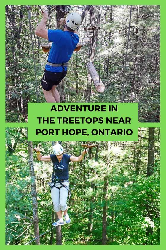 Treetop adventure in the Ganaraska Forest