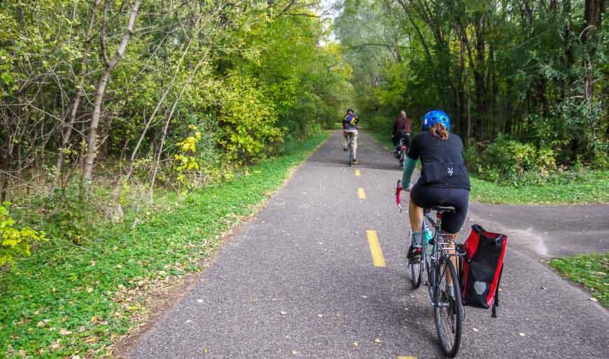Bike Trails in Minnesota include the popular bike trail to Stillwater