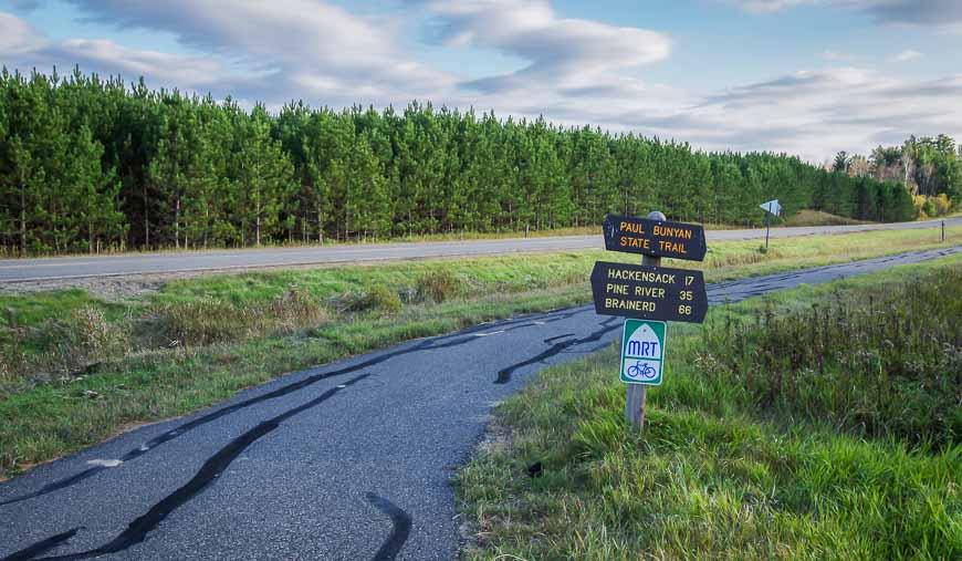 The Paul Bunyan Trail intercepts the Heartland Trail