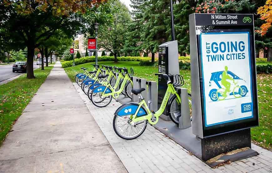 Saint Paul's bike sharing system - Nice Ride