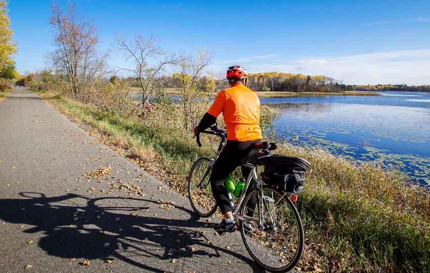 Bike trails in Minnesota I recommend include the Heartland Trail