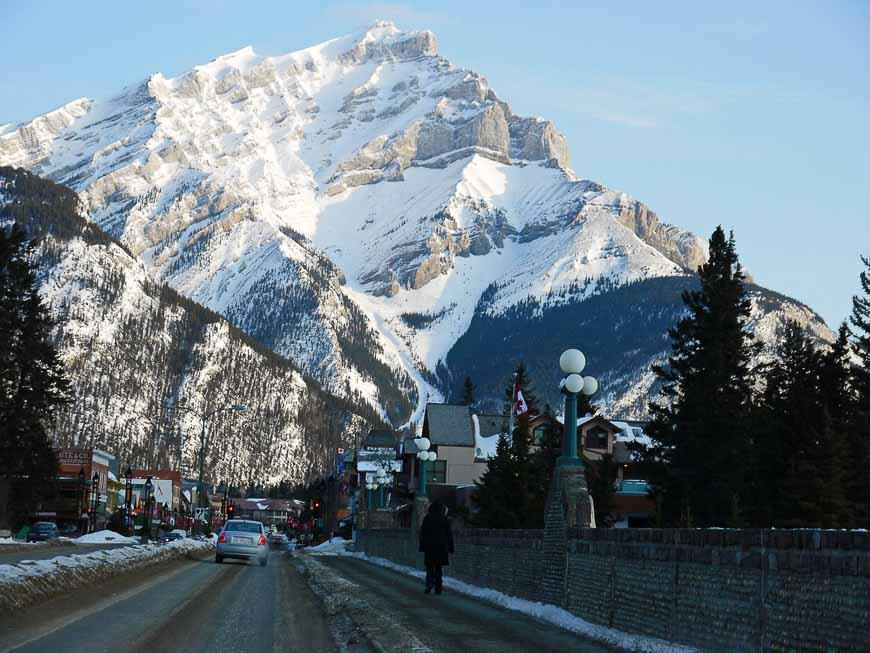 Banff Main Street In Winter
