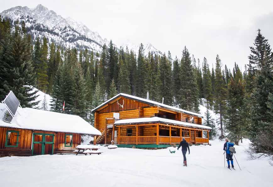 Skiing into Sundance Lodge in Banff National Park