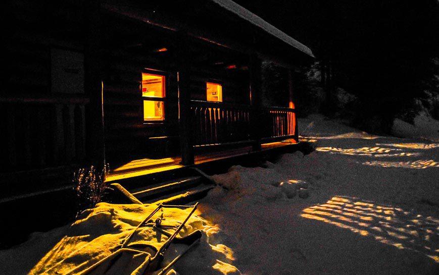 Sundance Lodge at night