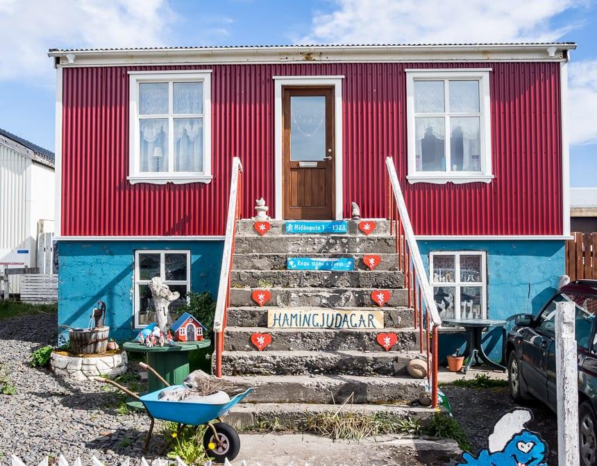 Colourful home in Holmavik