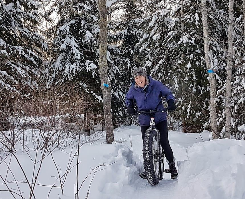Hard time fat tire biking