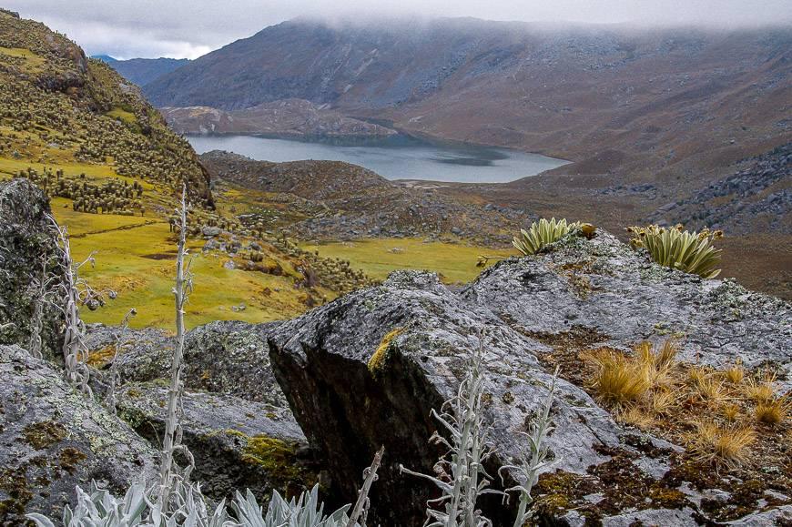 Fog is lifting on the Sierra Nevada del Cocuy trek