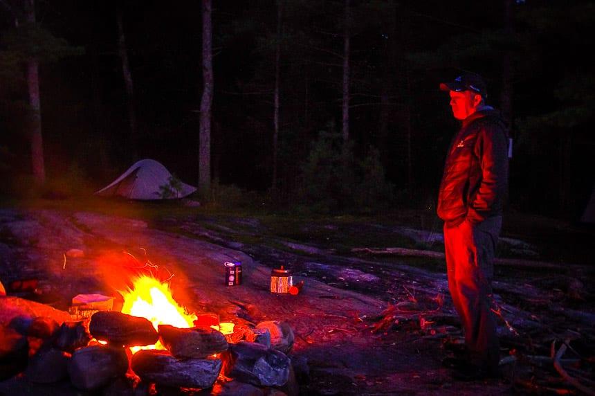 How do You #StandForCanada? Quintessential Canada - a campfire by a lake