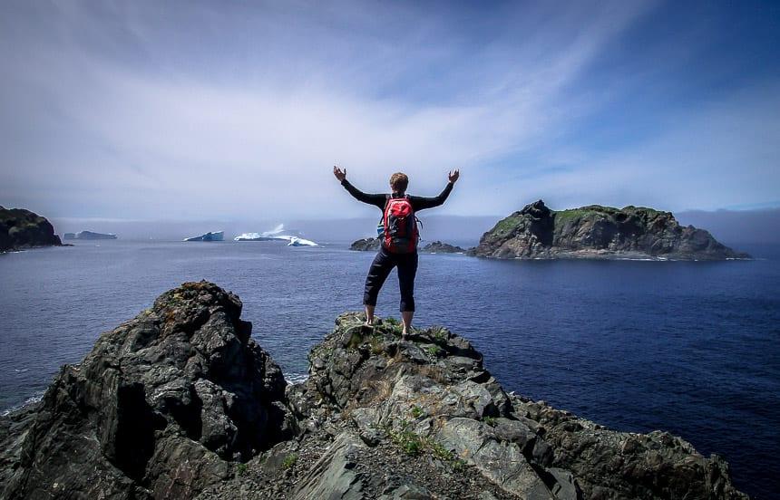 How do You #StandForCanada? Standing for Canada on the East Coast near Twillingate, Newfoundland in iceberg season