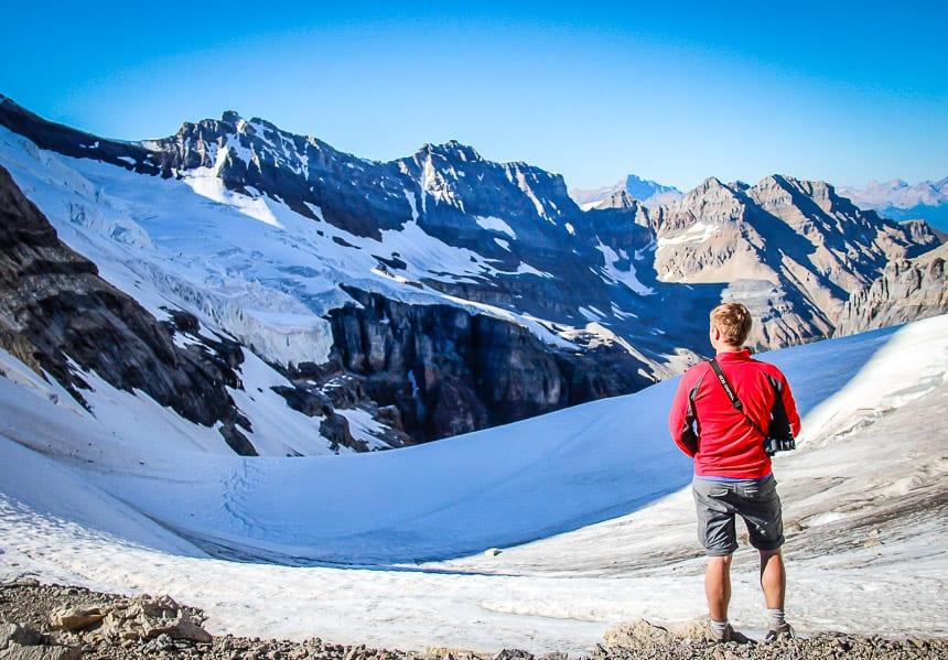 How do You #StandForCanada? On the Alberta - BC border outside the Abbott Pass Hut on the Yoho - Banff National Park boundary
