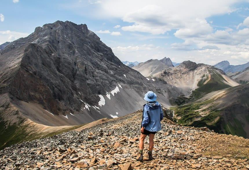 How do You #StandForCanada? My friend Sarah enjoying the reward for hiking to Guinn Pass, Kananaskis Country, Alberta