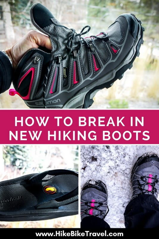 Tips on how to break in new hiking boots