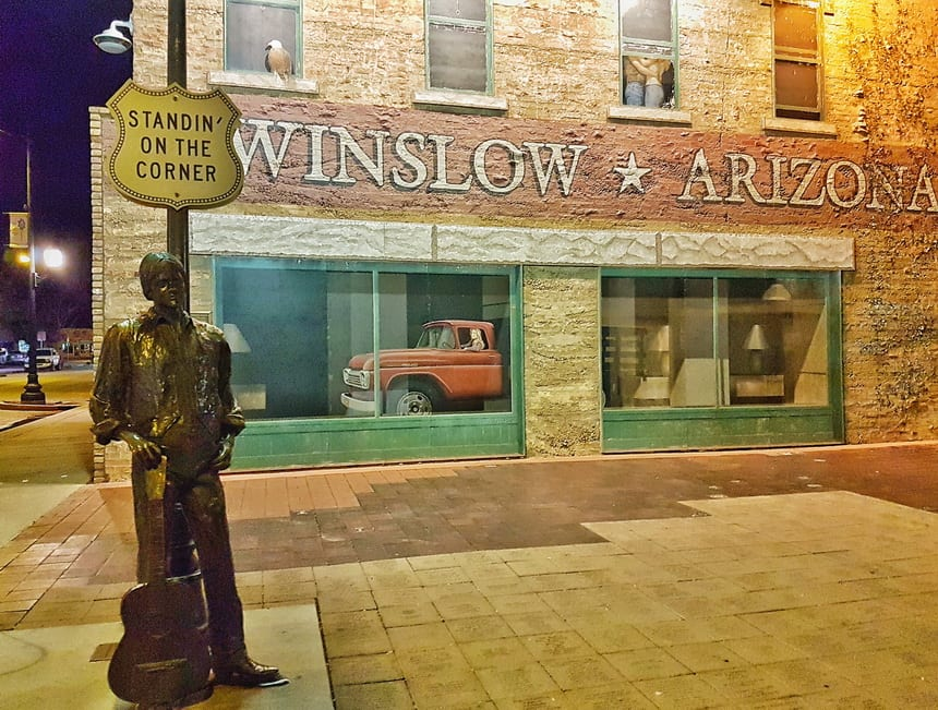 Standin' on the Corner on a Visit to Winslow, Arizona