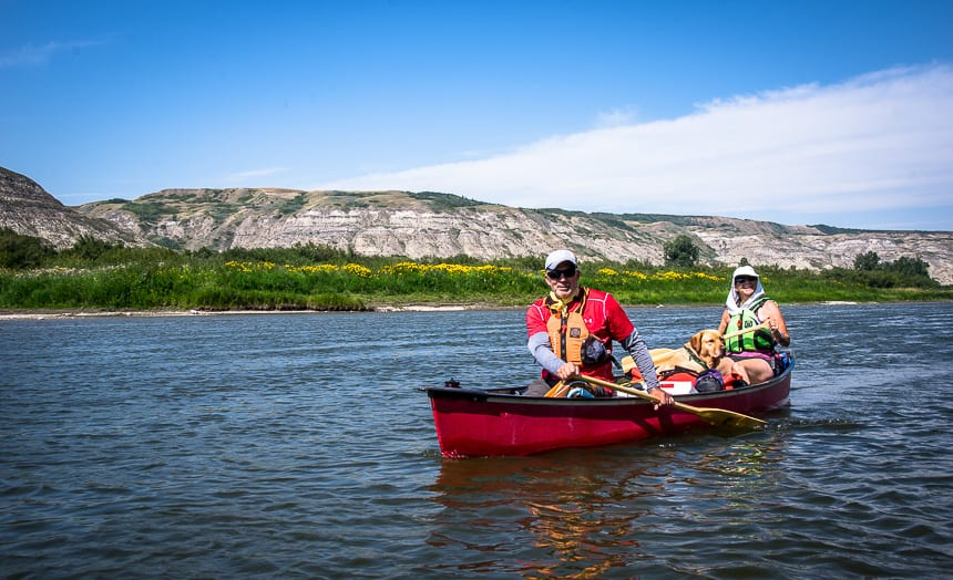 A Weekend Canoe Trip on the Red Deer River