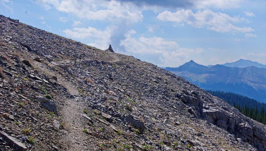 Hiking Forgetmenot Ridge in Kananasksis Country