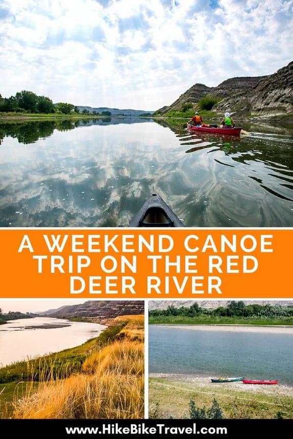 A Weekend Canoe Trip on the Red Deer River in Alberta