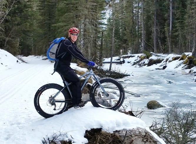Fat tire biking in Kananaskis Country