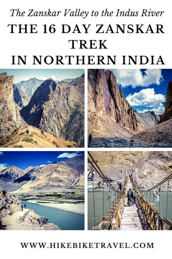 The 16 day Zanskar trek in northern India