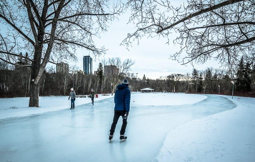 Enjoying the iceway at Victoria Park