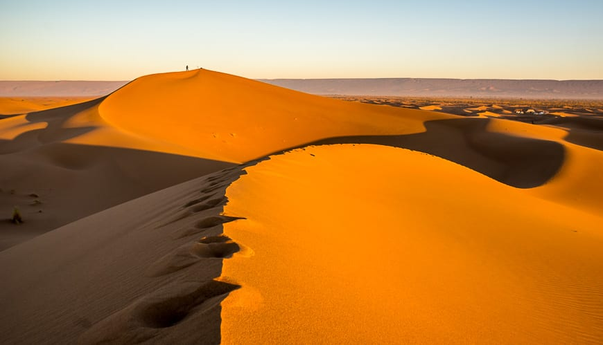 Explore the sand dunes on your own from camp