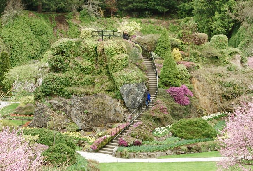 The incredible Sunken Garden at The Butchart Gardens