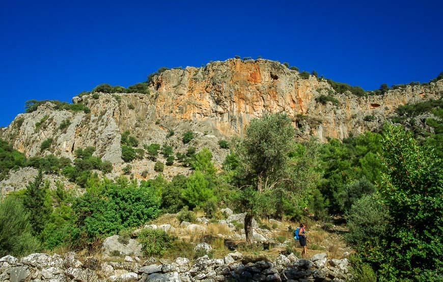Beautiful cliffs seen on the way into Adrasan