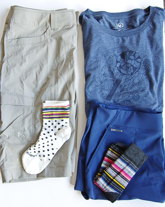 Arc'teryx and Lole shorts are good choices