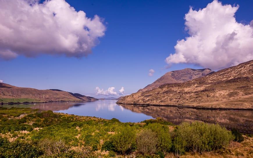 We drove past Killary Fjord to reach the trailhead