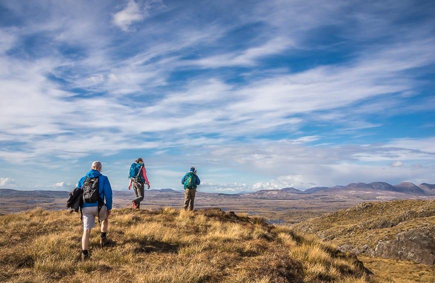 Ireland Hiking - Errisbeg Hill