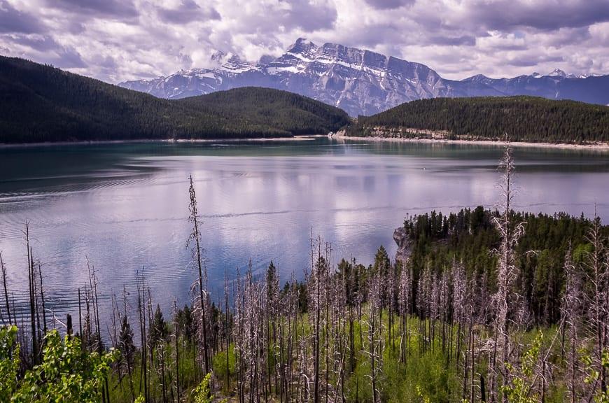 Enjoy views of Lake Minnewanka for most of the hike