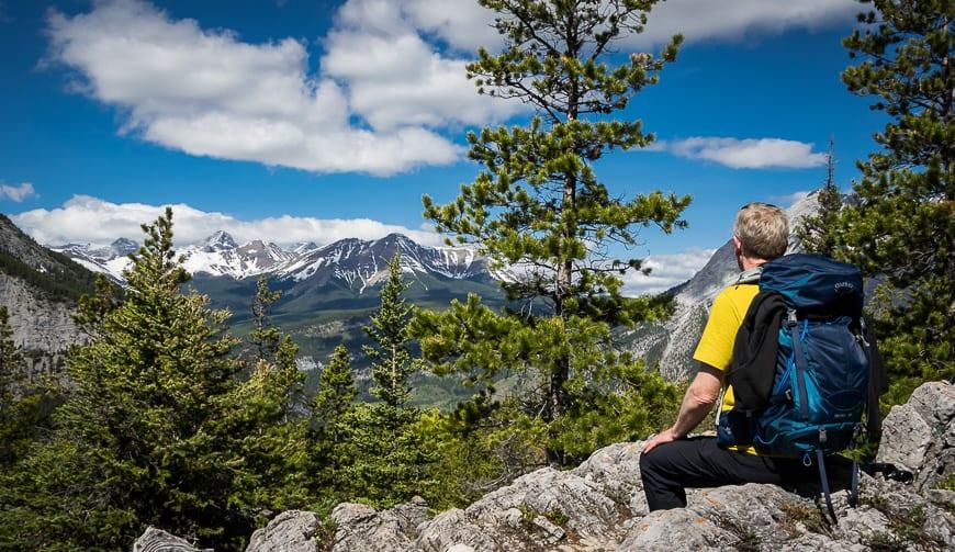 Man enjoying the view from Wasootch Ridge