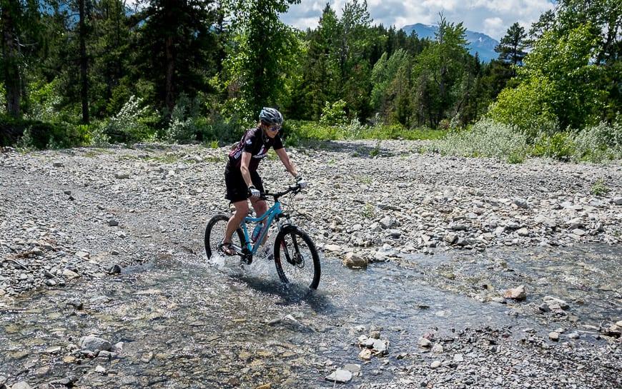Having fun mountain biking in Castle Provincial Park