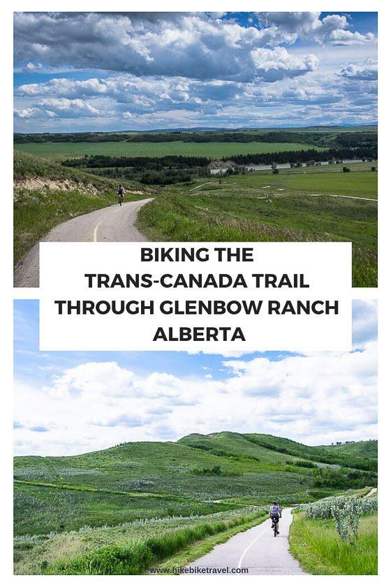 Biking the Trans-Canada Trail Through Glenbow Ranch, Alberta