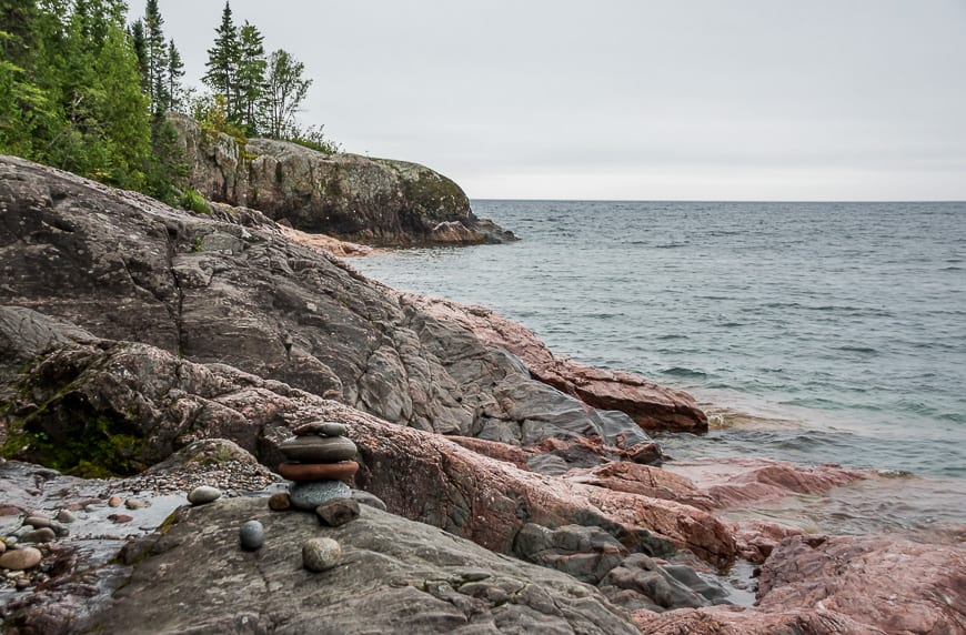 There were numerous occasions where you hiked right beside Lake Superior