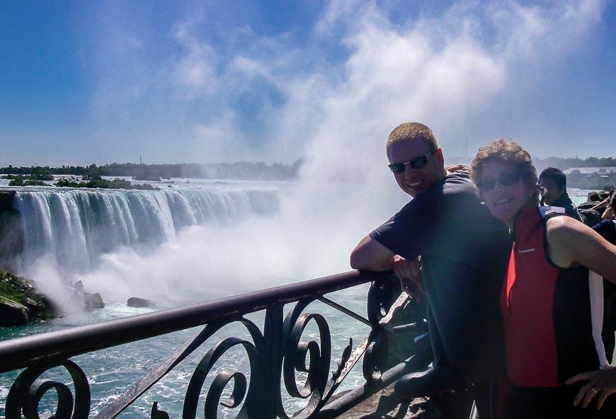 Visiting Niagara Falls with my son