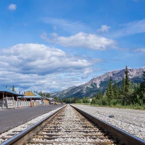 The train station in Denali National Park